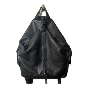 🆕 Liebeskind Black Leather Backpack Purse Handbag